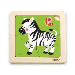 Puzzle na podkładce-zebra
