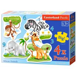 PUZZLE 4W1 AFRICAN ANIMALS