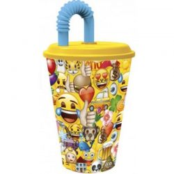 Emoji - Kubek ze słomką 430 ml