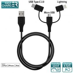 PURO Cable 3 in 1 - Kabel...