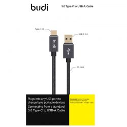 Budi - Kabel USB-A do USB-C...