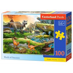 PUZZLE 100 WORLD OF DINOSAURS