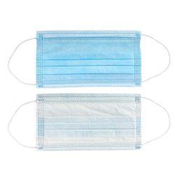 Hoco disposable civilian mask - Jednorazowa maseczka ochronna na twarz, 3 warstwy, 50 sztuk (Niebieski/Biały)