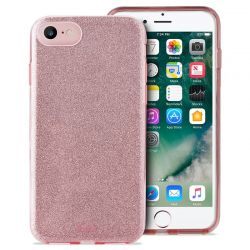 PURO Glitter Shine Cover - Etui iPhone SE 2020 / 8 / 7 / 6s (Rose Gold)