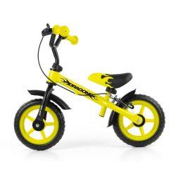 Milly Mally Rowerek biegowy Dragon z hamulcem yellow