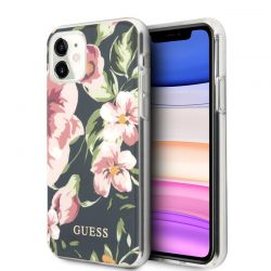 Guess Flower Shiny Collection N3 - Etui iPhone 11 (Navy)