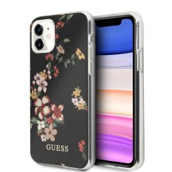 Guess Flower Shiny Collection N4 - Etui iPhone 11 (Black)