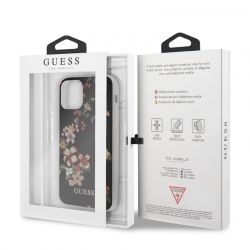 Guess Flower Shiny Collection N4 - Etui iPhone 11 Pro Max (Black)