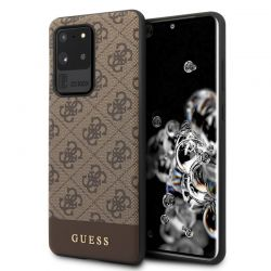 Guess 4G Bottom Stripe Collection - Etui Samsung Galaxy S20 Ultra (brązowy)