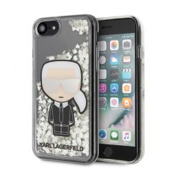 Karl Lagerfeld Glitter Glow in the dark Ikonik - Etui iPhone SE 2020 / 8 / 7