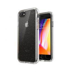 Speck Presidio Perfect-Clear with Glitter - Etui iPhone SE 2020 / 8 / 7 z powłoką MICROBAN (Gold Glitter/Clear)