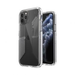 Speck Presidio Perfect-Clear with Grips - Etui iPhone 11 Pro z powłoką MICROBAN (Clear)