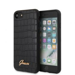 Guess Croco Case - Etui iPhone SE 2020 / 8 / 7 (Black)