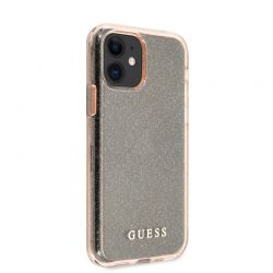 Guess Glitter Case - Etui iPhone 11 (Pink)