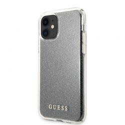 Guess Glitter Case - Etui iPhone 11 (Silver)