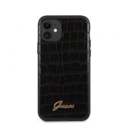 Guess Croco Case - Etui iPhone 11 (Black)