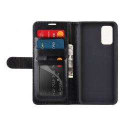 Crong Booklet Wallet - Etui Samsung Galaxy S20+ z kieszeniami + funkcja podstawki (czarny)