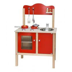 Kuchnia z akcesoriami czerwona