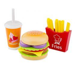 New Classic Toys - Drewniany zestaw fast food