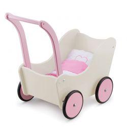 New Classic Toys - Wózek dla lalek kremowy