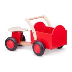 New Classic Toys - Drewniany rower cargo czerwony