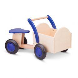 New Classic Toys - Drewniany rower cargo niebieski
