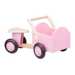 New Classic Toys - Drewniany rower cargo różowy
