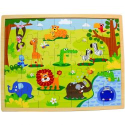 Top Bright - Drewniane puzzle safari (35 el.)