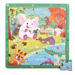 Top Bright - Drewniana gra & puzzle dżungla (25 el.)
