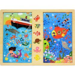 Top Bright - Drewniana gra & puzzle ocean (2 x 8 el.)