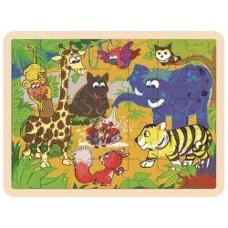 Top Bright - Drewniane puzzle dżungla (35 el.)