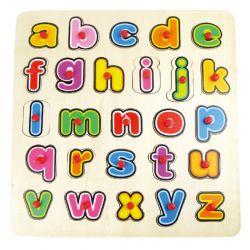 Top Bright - Drewniane puzzle małe litery