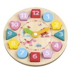 Lelin Toys - Drewniany zegar logiczny