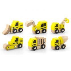 Viga Toys - Zestaw 6 drewnianych pojazdów