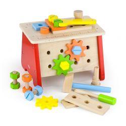 Viga Toys - Drewniany stół warsztatowy
