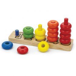 Viga Toys - Drewniana gra naucz się liczyć