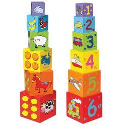 Viga Toys - Drewniana kostka do układania