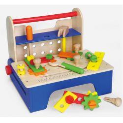 Viga Toys - Drewniany przybornik z narzędziami składany