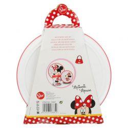 Minnie Mouse - Zestaw naczyń (Talerz,miska, kubek)