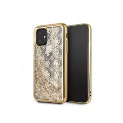 Guess 4G Peony Liquid Glitter - Etui iPhone 11 (złoty)