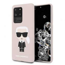 Karl Lagerfeld Fullbody Silicone Iconic - Etui Samsung Galaxy S20 Ultra (Pink)
