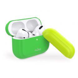 PURO ICON Fluo Case - Etui do Airpods Pro z dodatkową osłonką (Fluo Green + Fluo Yellow Cap)
