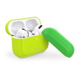 PURO ICON Fluo Case - Etui do Airpods Pro z dodatkową osłonką (Fluo Yellow + Fluo Green Cap)