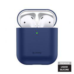 Crong Liquid Case - Etui Apple AirPods 1&2 generacji (granatowy)