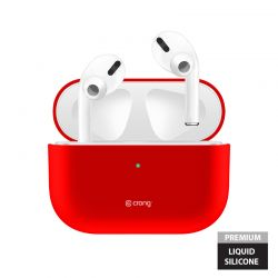 Crong Liquid Case - Etui AirPods Pro (czerwony)