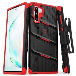 Zizo Bolt Cover - Pancerne etui Samsung Galaxy Note 10 oraz podstawka & uchwyt do paska (Black/Red)