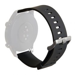 PURO ICON Multibrand Wristband – Uniwersalny pasek smartwatch 20 mm (S/M & M/L) (czarny)