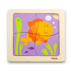 Viga 50144 Puzzle na podkładce - rybka