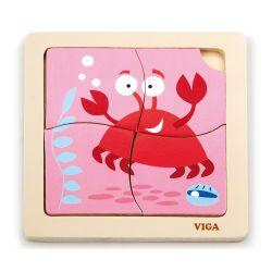 Viga 50146 Puzzle na podkładce - krab
