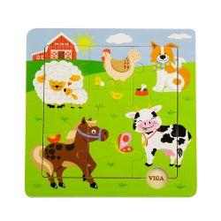 Viga 50837 Puzzle na podkładce farma